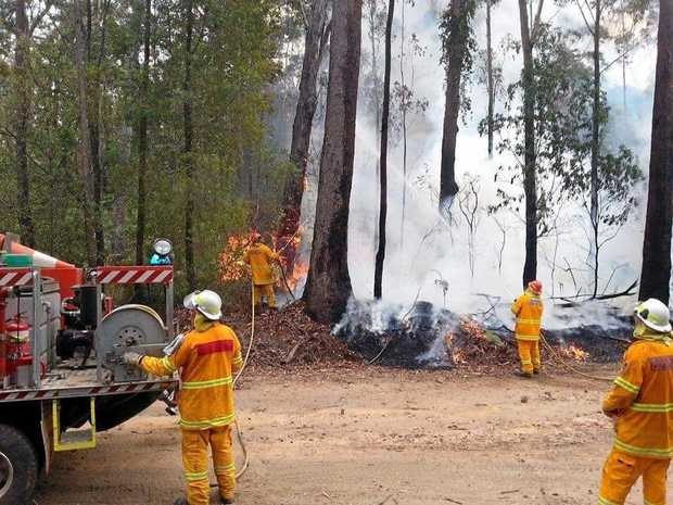 Fires at Thompson Rd in the Richmond Valley on Saturday.