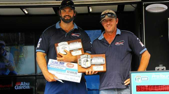 Australia's number one Barra anglers Karrim De Ridder and Craig Griffiths.