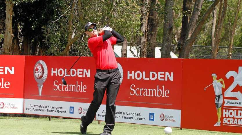IN FRONT: Wentworth leads the Holden Scramble national final heading into the final day of play.