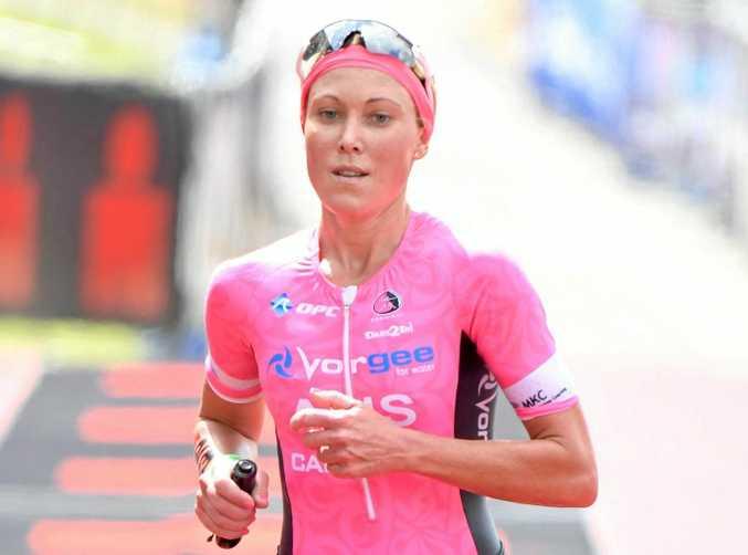 RUNNER-UP: Kirra Seidel was second in a half ironman race in Sydney.