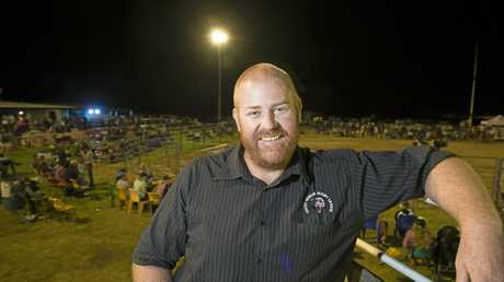 FUNDRAISER FUN: Oakey Bears president Shane Turl at the club's rodeo last month.