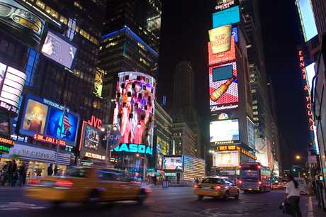 The One Times Square billboard.