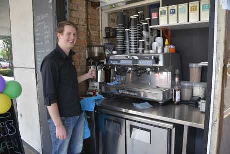Ben Apsey, the owner of Cool Beans Cafe, started trading on Monday November 28, 2016.