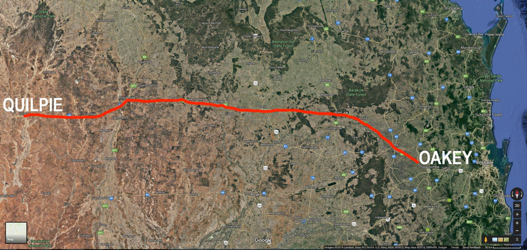 RAIL REVIVED: The rail line between Quilpie and Oakey, which will transport cattle to be processed ready for domestic and international markets.