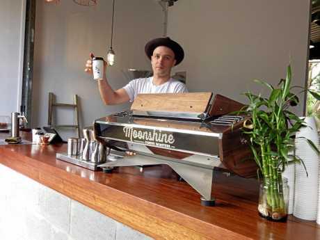 Moonshine Coffee Roasters employee Jack Deacon.