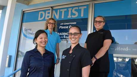 Tiffany Chen, dentist, Renee Marsden, practice manager, Talitha Rogers, dental assistant and Kirralee Corby, reception make up some of the team at the new dental service in Evans Head.