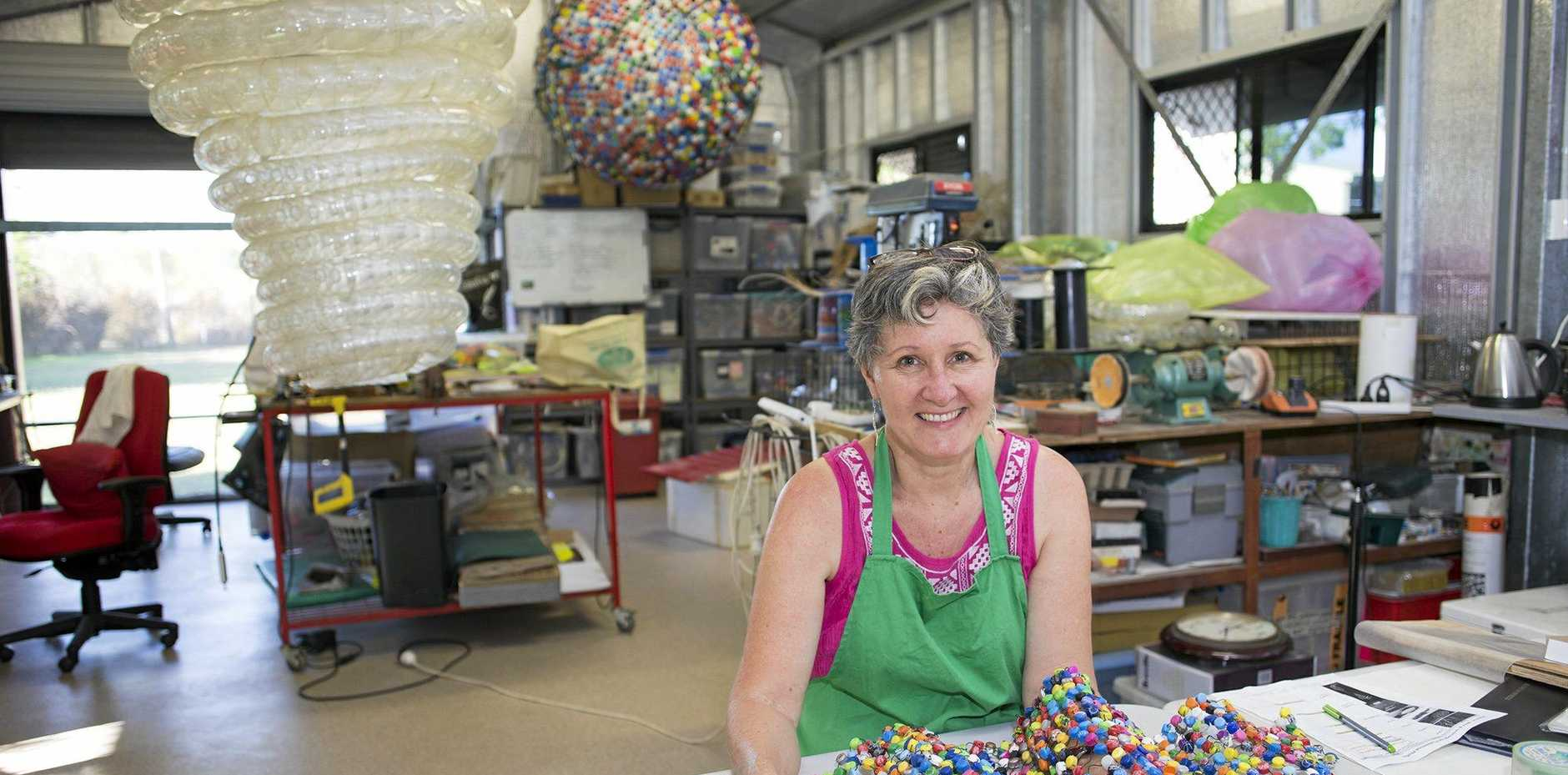 Moranbah Coalface Art Gallery to host Wanton, Wild & Unimagined; a playful exhibition, by artist Alison McDonald (pictured in her studio), that stirs the imagination and evokes reflection.