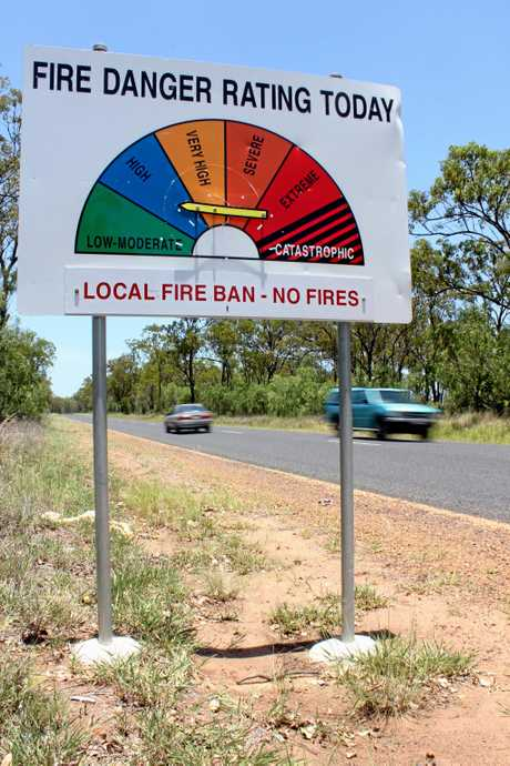 FIRE: A Fire Danger Rating sign assesses the possible damage to the community should a bushfire occur on a given day.