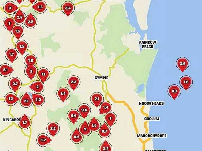 Tremors in the Sunshine Coast region in the last year.
