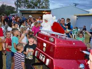 Santa gets cooking at Lions Park
