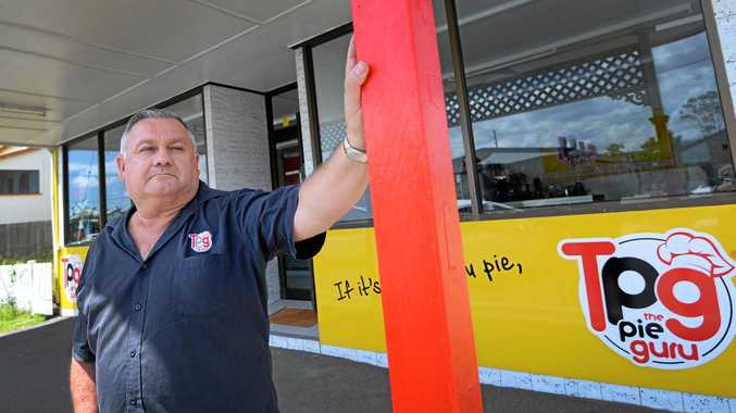 TASTY: The Pie Guru owner Stevan Davies outside the latest Rockhampton store a new store in Campbell Street on the south side.