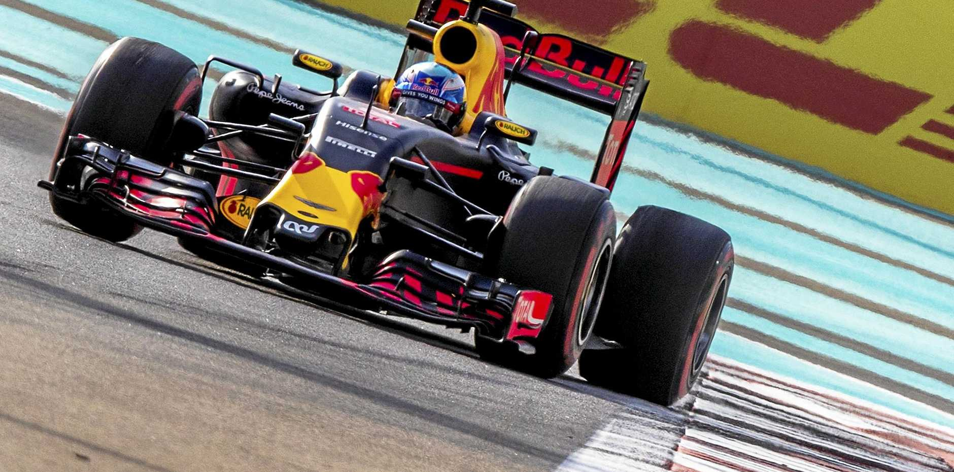 Daniel Ricciardo, of Red Bull Racing, in action  at Yas Marina Circuit in Abu Dhab.i