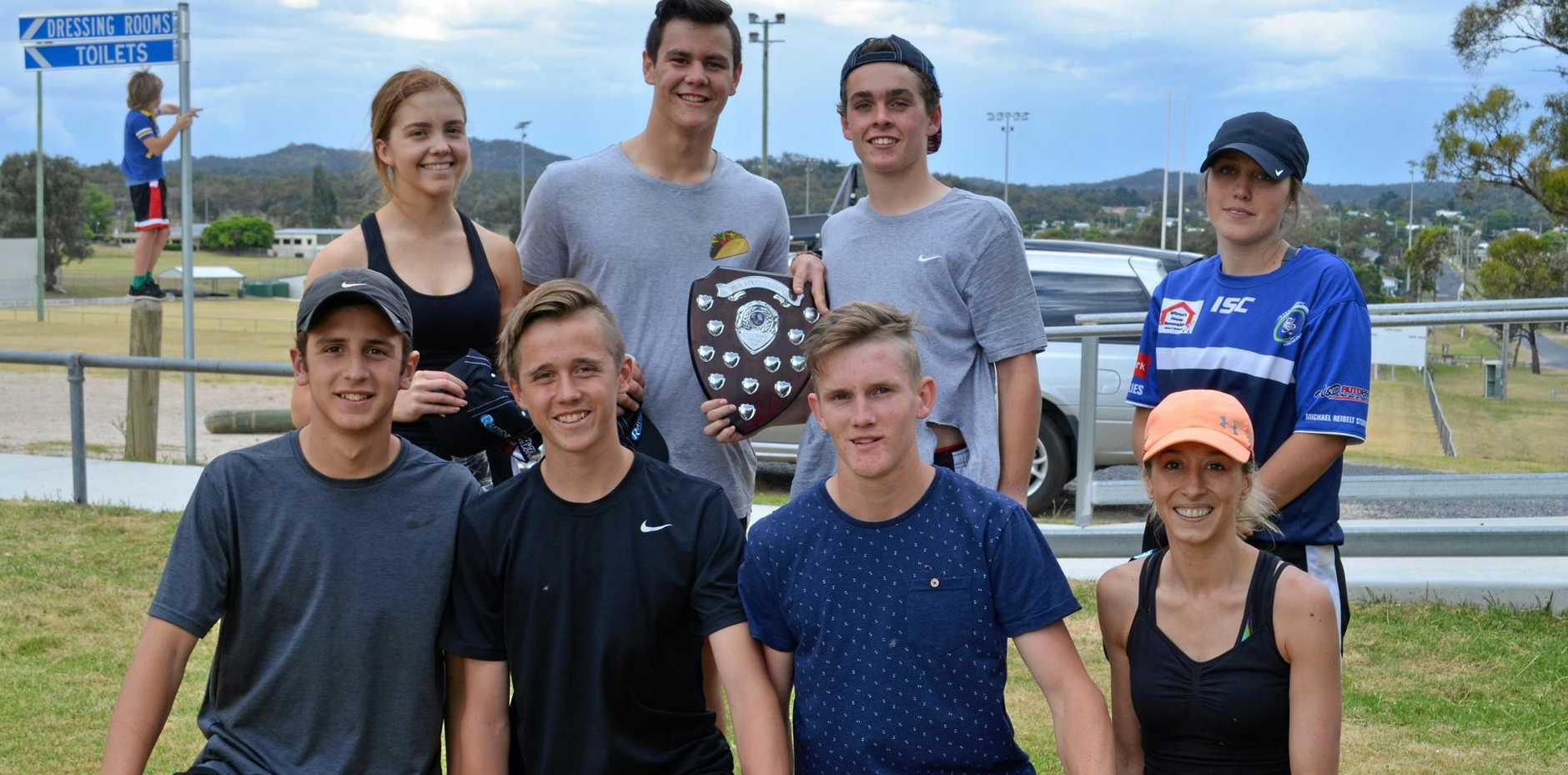 TOP TEAM: Teamy McTeamFace won the Opens Oztag grand final.