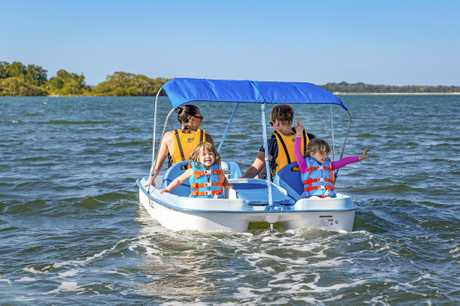 The paddle boats will carry two adults and two children