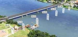 Grafton Bridge constuction timeline photos.