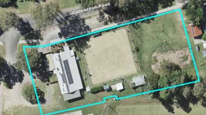 A proposed child centre at the site of an old bowls club.