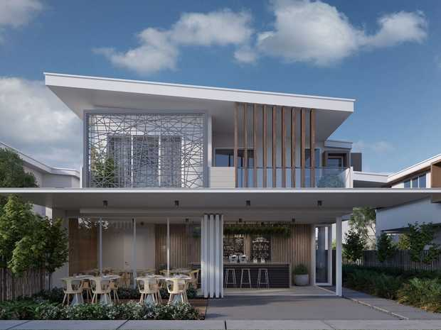 An artist impression of one of Vibe Coolum's beach houses.