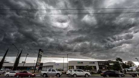The storm front passing over Grafton Shoppingworld viewed from The Daily Examiner office in Fitzroy St, Grafton on Monday, 28th November, 2016. The Clarence Valley has been issued with severe thunderstorm warnings for a third day in a row.