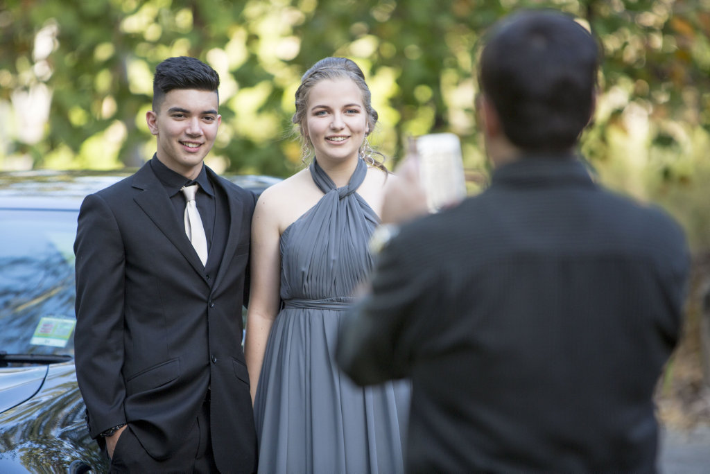 Wesley Fletcher and Annie Delioglanis. Senior students from St Stephens Lutheran College celebrate their last year.