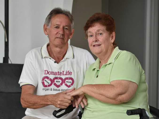 DonateLife - Organ & Tissue Donation - heart transplant recipient Christine Brown with her husband Allan.
