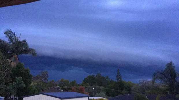 Kat Thompson took this photo of last night's storm.