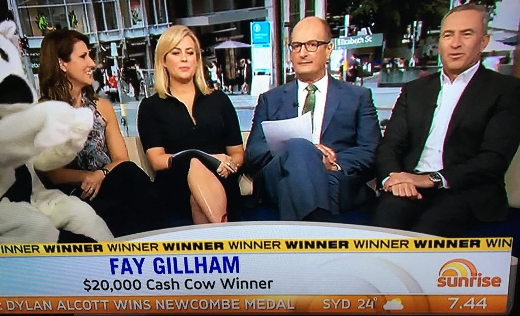 Bak when the Hervey bay woman won cash cow before Madison's sad disappointment.