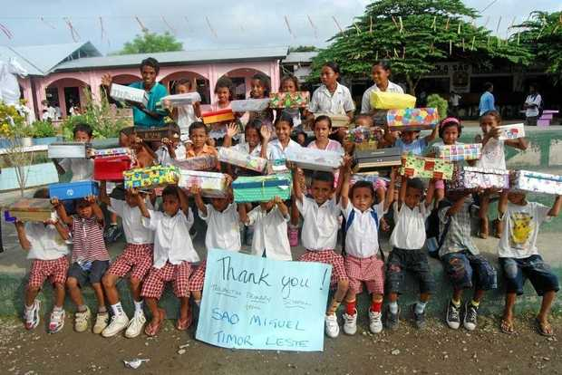 SO happy to receive their shoeboxes. These Sao Miguel students are looking to use their gifts to help their studies.