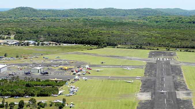 An aerial view of the Evans Head Memorial Aerodrome.