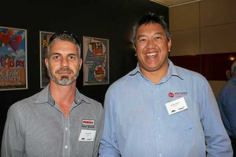 Jaco Erasmus (Penske Power Systems) and Rommel Wilson (BTP Parts).