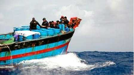 CAUGHT: Illegal Vietnamese fishing boat caught off Gladstone with 3 tonnes of sea cucumbers.