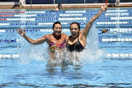 At Milne Bay Aquatic Centre are Haley McDonald (left) and Marci Mathiesen. The centre will host a dive in movie this week.