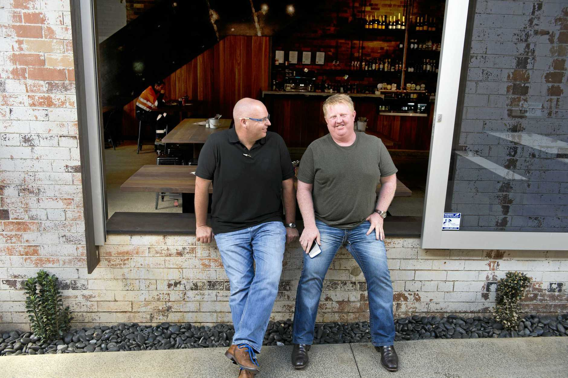 The Office, Duggan Street has been sold to Worldwide Hospitality Group directors Tony Kelly (left) and Scott Hoskins. November 2016