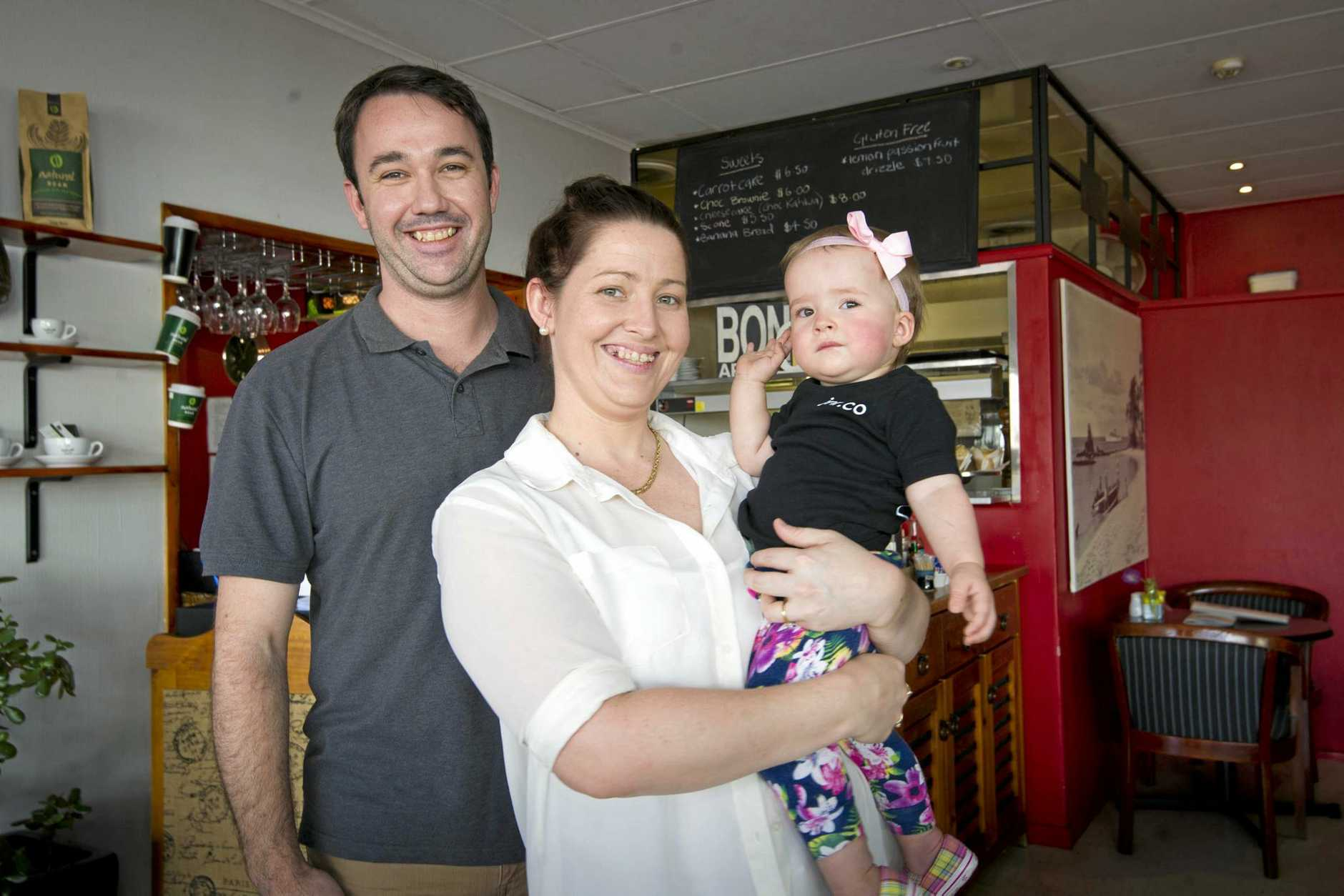 Local Gladstone couple Megan Bale and Tim Hancock have taken over ownership of the Chattin Café on Goondoon Street. Photo Dylan Suska / The Observer
