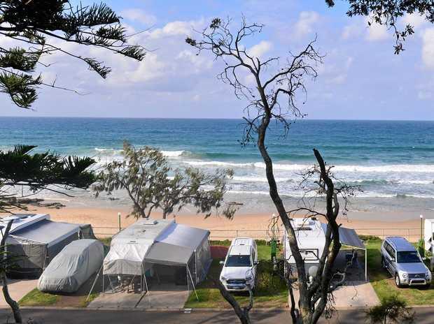Mooloolaba Caravan Park.  Photo: John McCutcheon / Sunshine Coast Daily