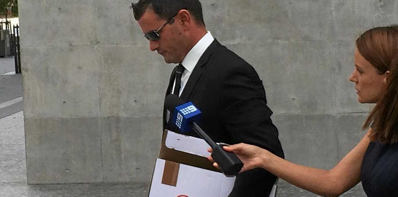 Accused murderer Shane Anthony Eric Hansen leaves the Brisbane Supreme Court on Monday.