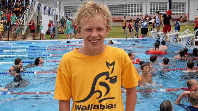 TRIPLE THREAT: Dalby State High School student Healy Beresford, pictured at a swimming carnival last year, will compete at the triathlon State titles in February.