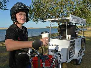 Pedal-powered coffee venture inspired by Starbucks
