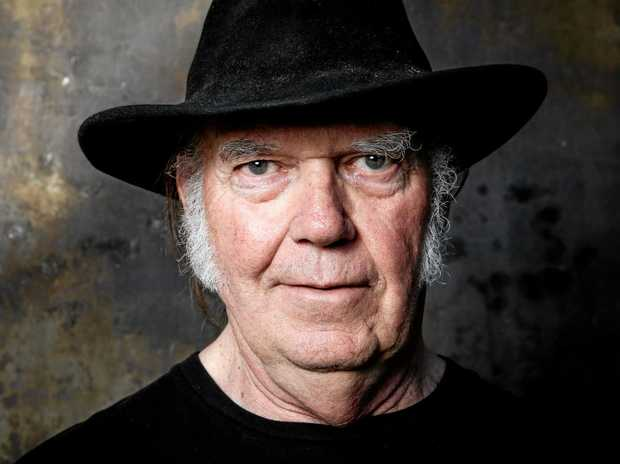 In this May 18, 2016 photo, Neil Young poses for a portrait in Calabasas, Calif., to promote his new album, \