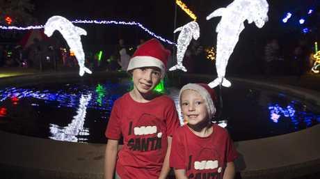 Enjoying Christmas Wonderland last year are Jack and Max O'Mara.