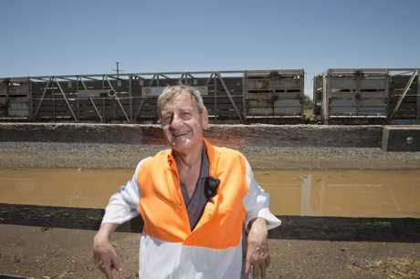 Brian Byers has worked for 46 years at Oakey abattoir and remembers the last time the cattle trains ran, Wednesday, November 30, 2016.