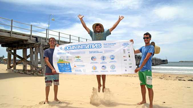 ACTION: Jordan, Clement and Aurelien, of Ocean Cleaner'zh, doing their part for the marine environment and our beaches.