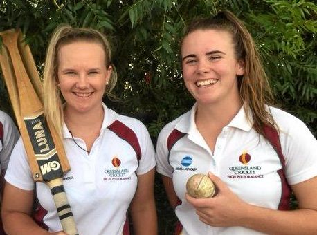 RARING TO GO: Carly Cooper and Eliza Flynn will join Anna Patton and Jessica Carroll in the Queensland Country women's squad.