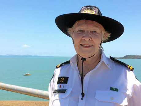 Yeppoon Coast volunteer Guard Elizabeth Goodsell was out with the crowd as the RACQ Capricorn Rescue helicopter and the Coast Guard conducted a training exercise at Wreck Point.Photo Amber Hooker / The Morning Bulletin