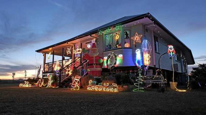 FESTIVE: Last year's Christmas Lights at 4 Washington Avenue, Chinchilla.