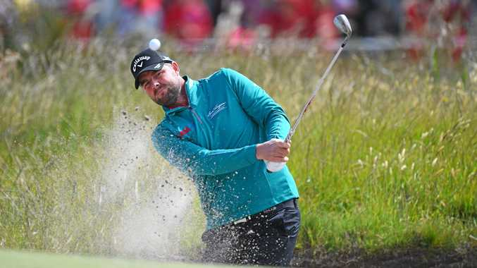 Australian Marc Leishman at the World Cup of Golf at Kingston Heath in Melbourne last week.