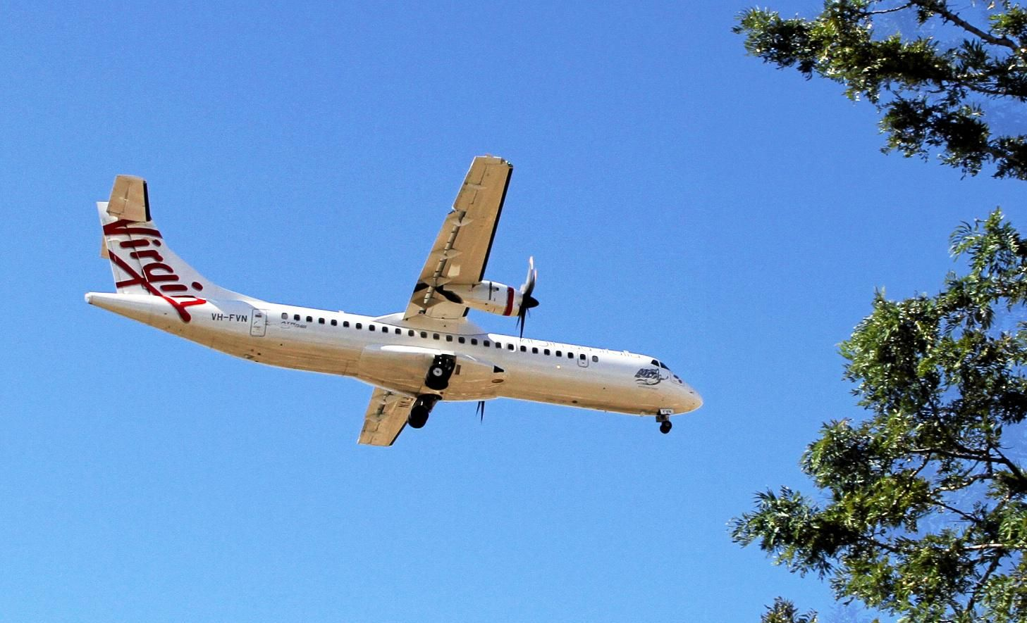 INCOMIN AIRLINE: Virgin Australia starts flying over the city of Bundaberg. Photo: Paul Donaldson / NewsMail