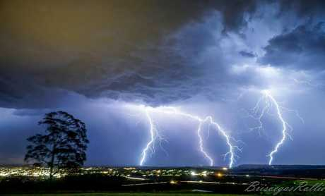 Chris Rollie‎'s photo of the storm. Photo taken from Mt Tabor overlooking Warwick.