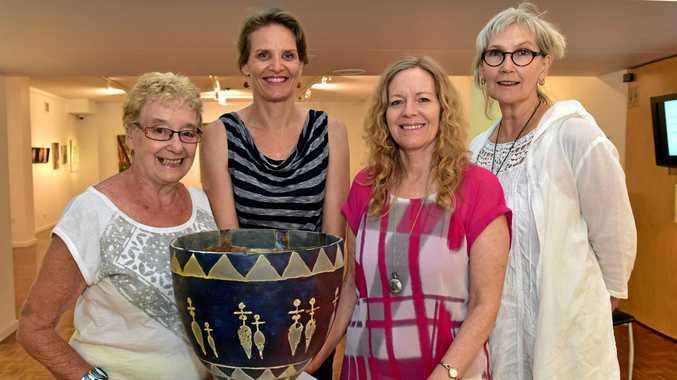 NEW PUSH: Shirley Page with fellow gallery friends Lisa Brummel, Margie Gibson and Vicki Bradbury.