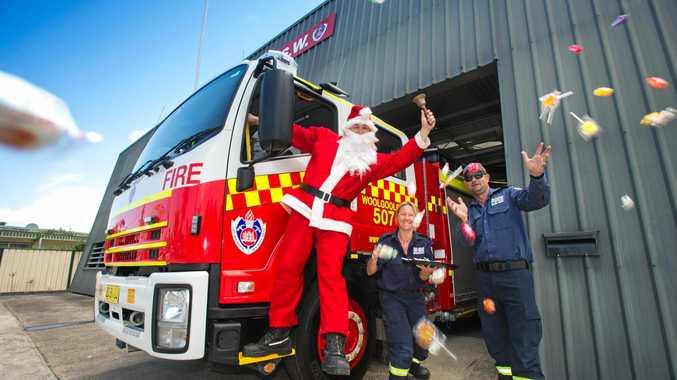 Woolgoolga firefighters will be helping Santa to do lolly drops in Woolgoolga.