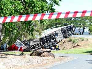 Tragedy for truckie, refugee on Rockhampton road